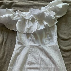 NWT H&M Off The Shoulder Ruffle Dress